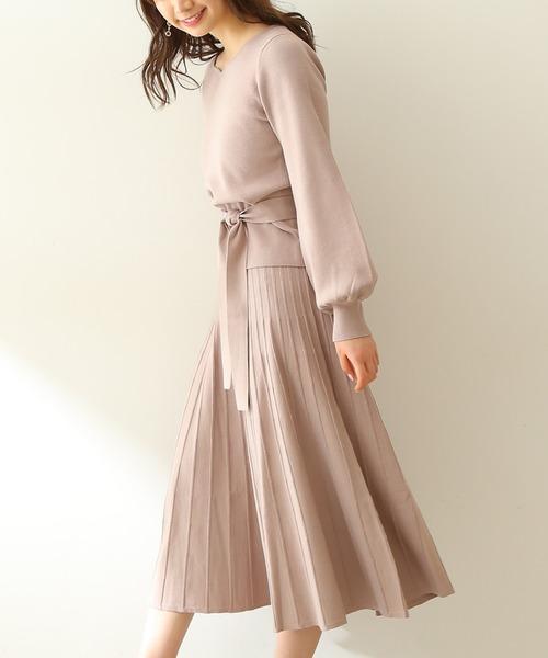 [PROPORTION BODY DRESSING] 【ブルー:WEB限定カラー】プリーツスカートセットアップ