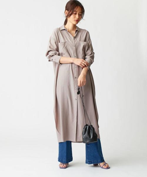 [EMMEL REFINES] SMF VIS ロングシャツ ワンピース