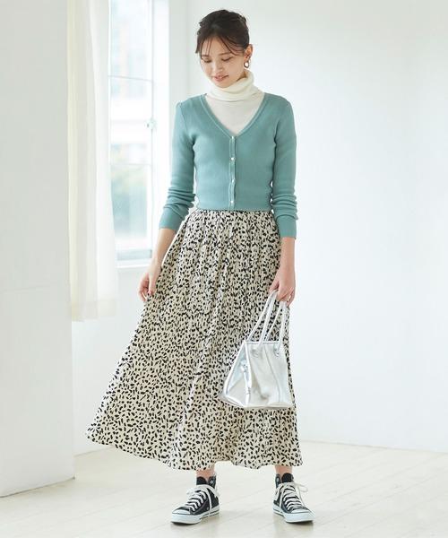 [titivate] ダルメシアン消しプリーツスカート