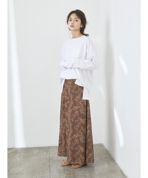 [CRAFT STANDARD BOUTIQUE] 【WEB別注】LOOSE T-SHIRT/クルーネックポケット付きロングTシャツ【UNISEX】◯☆*