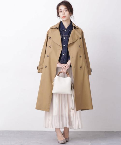 【韓国】4月に最適な服装:スカートコーデ