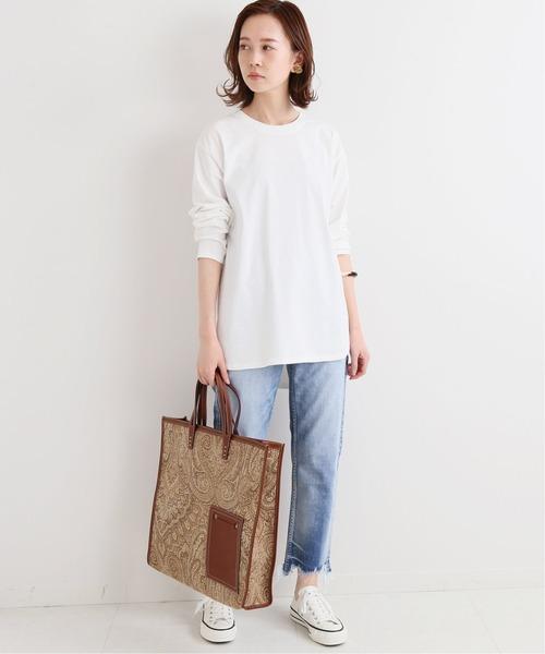 [IENA] ラウンドテールロングTシャツ◆