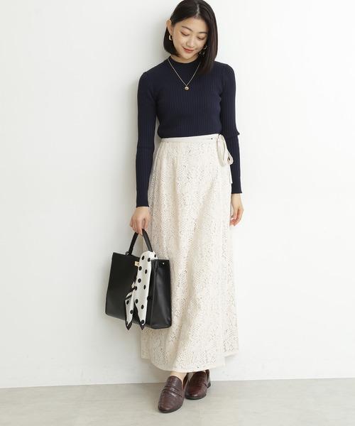 [N.(N. Natural Beauty Basic)] ◆カシュクールレースマキシスカート