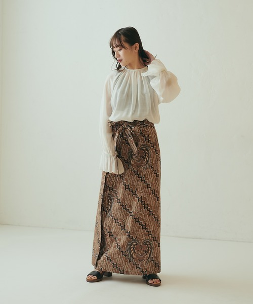 [CIAOPANIC] バティック柄ラップロングスカート