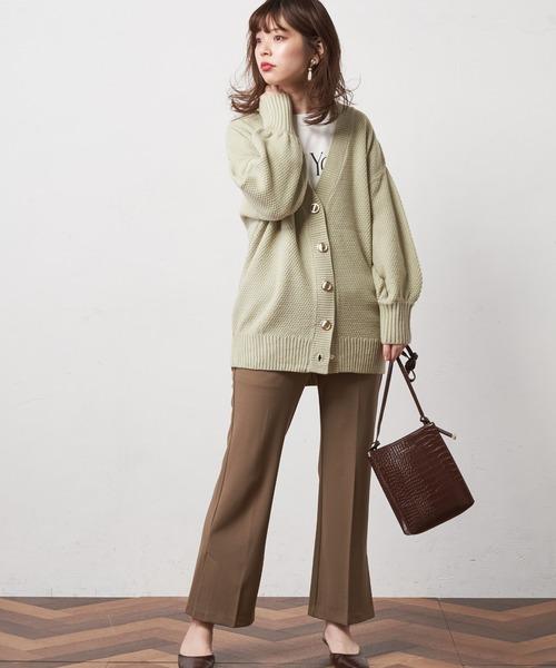 [natural couture] ミドル丈ゆるっとカーディガン