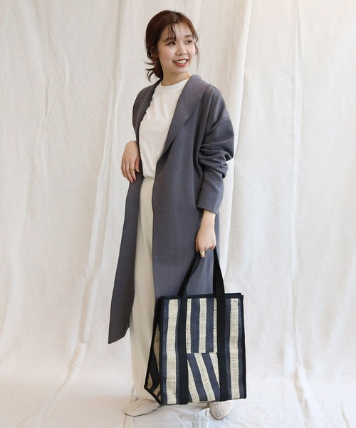 [CAPRICIEUX LE'MAGE] 〈ZOZOTOWN限定〉ベルト付ガウンコート