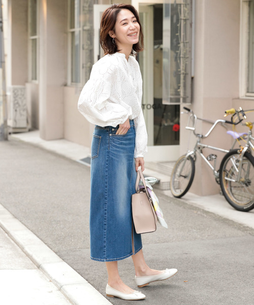 [URBAN RESEARCH ROSSO WOMEN] F by ROSSO コットンレースブラウス