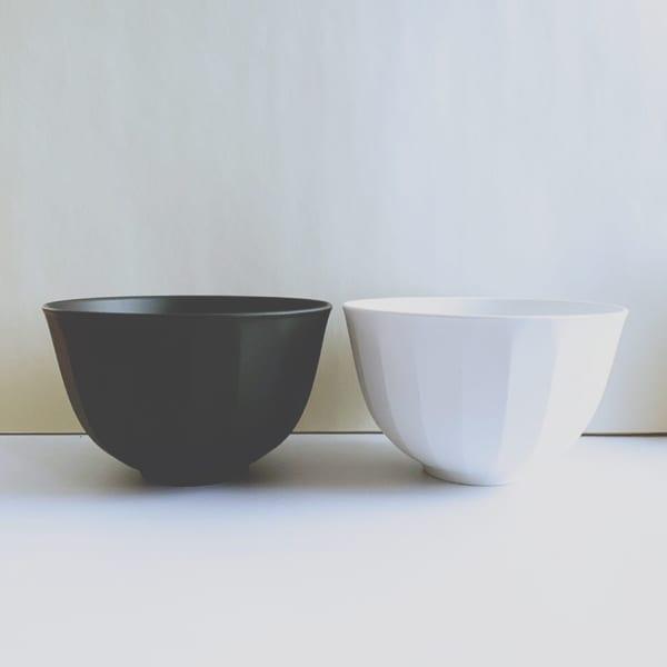 ダイソーの白黒食器2