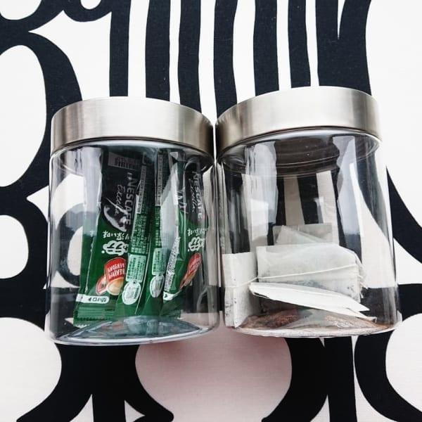 ガラスそっくりなプラスチック製キャニスター