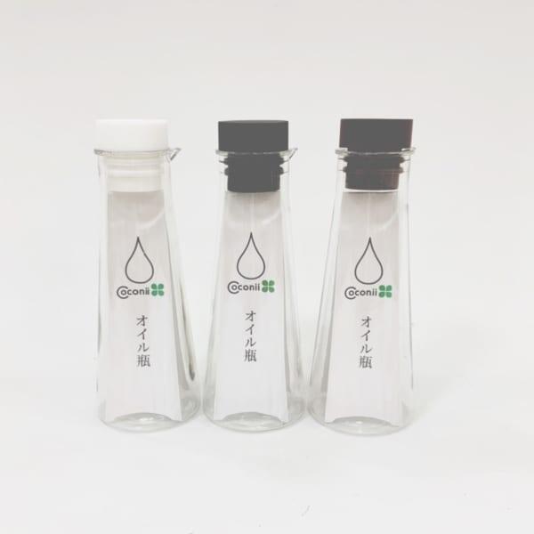 シンプルなオイル瓶