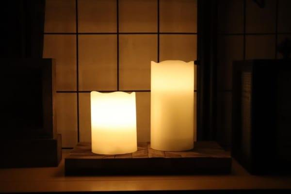 LEDキャンドルライト(ダイソー)