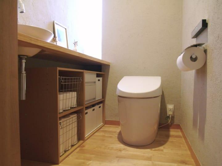 ニトリ・無印良品の収納グッズを活用した、トイレ収納!56