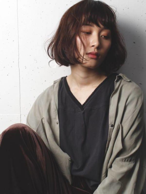 前髪ぱっつん×ボブヘア6