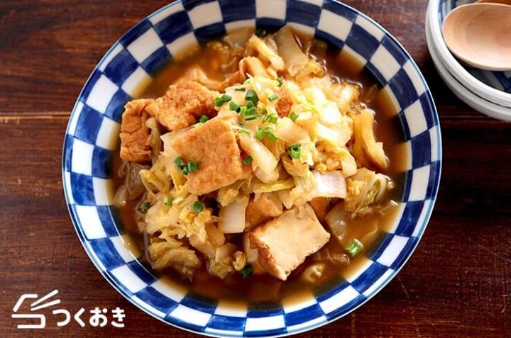 副菜料理にはこのレシピ!白菜と厚揚げの煮物