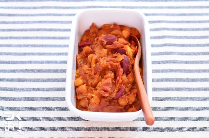 ひよこ豆のトマトカレー煮込み