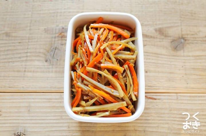 簡単なレシピで人気の副菜に!きんぴらごぼう