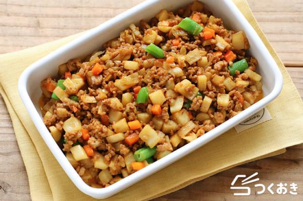 人気の食べ方!ごぼうたっぷり根菜のドライカレー