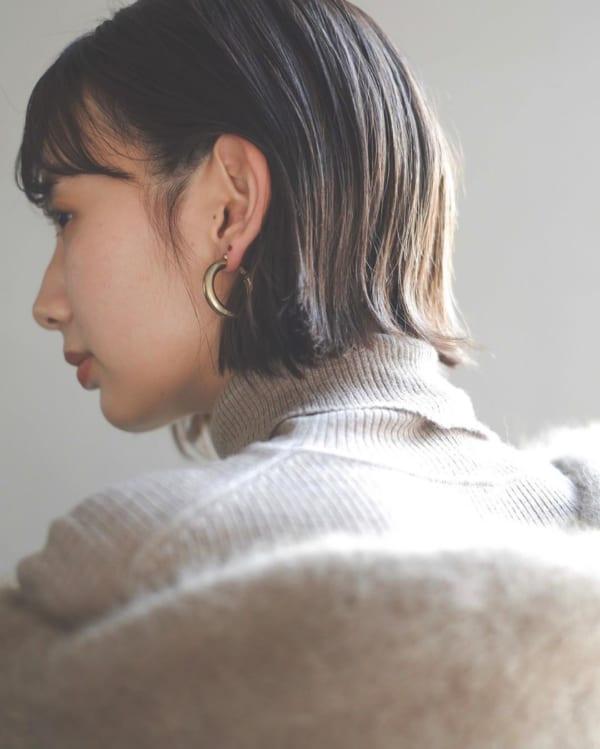 前髪ぱっつん×ボブヘア3