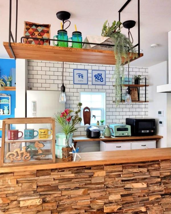 海を感じるカフェ風キッチン