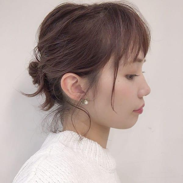 面長に似合うヘアアレンジ11
