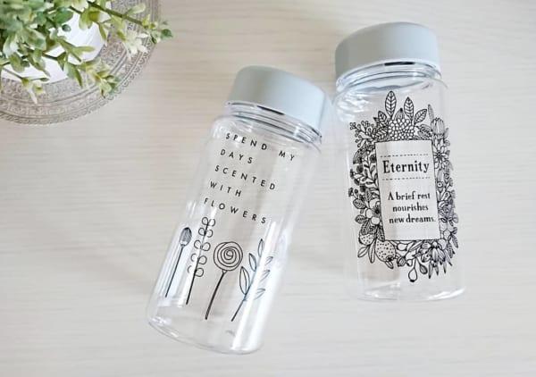 【キャンドゥ】繊細な柄が大人かわいいボトル