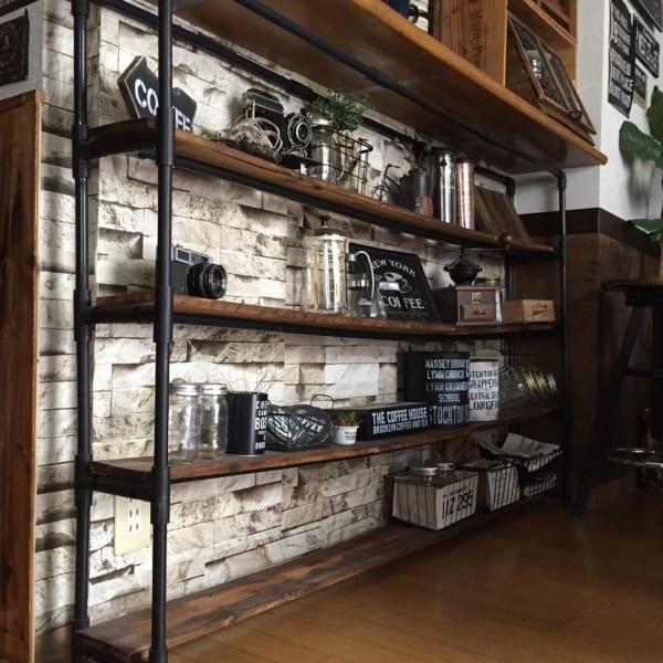 カウンター下の収納DIY《オープン収納》4