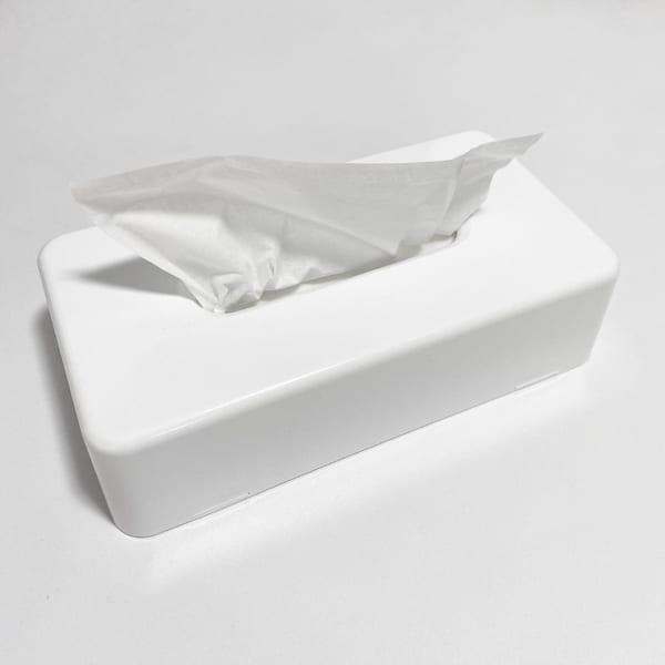 【レモンハウス】ホワイトティッシュケース