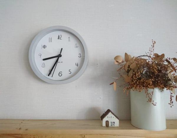 カフェ風インテリアにおすすめの掛け時計2