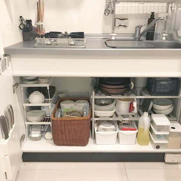キッチンシンク下を有効活用