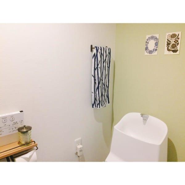 北欧柄アイテムがトイレのアクセントに