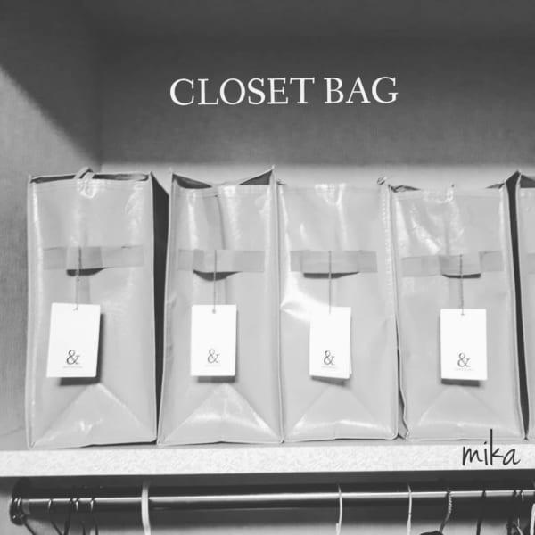 100均のクローゼット整理バッグで便利収納