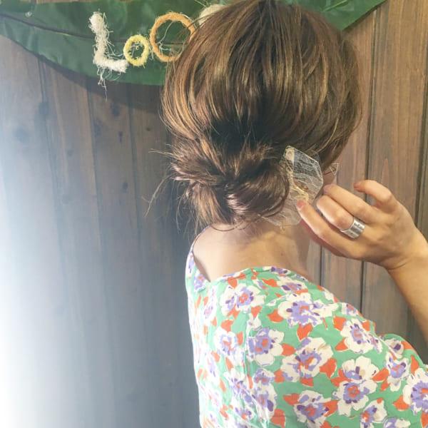 30代のお呼ばれ向け!簡単豪華なまとめ髪