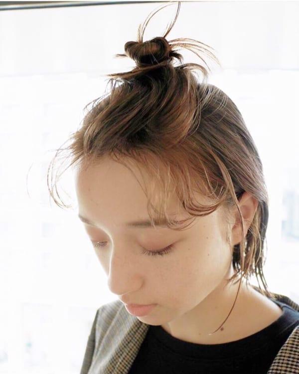 丸顔の可愛さ引き出すヘアスタイル