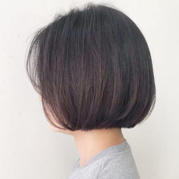 40代×前髪なしボブ×ワンレングス