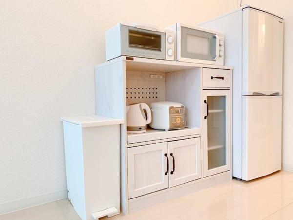 キッチンも白で統一