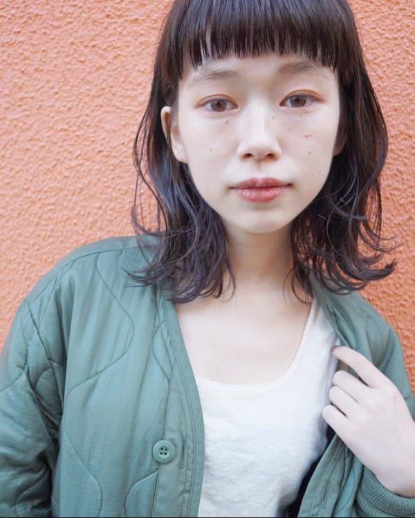 前髪ぱっつん×ボブヘア10
