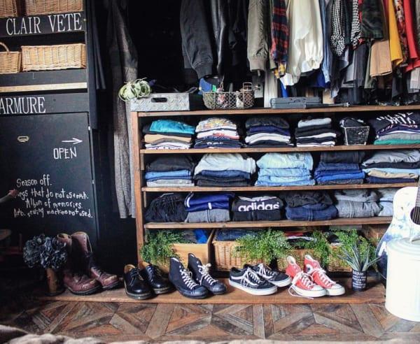 ショップのような衣類収納