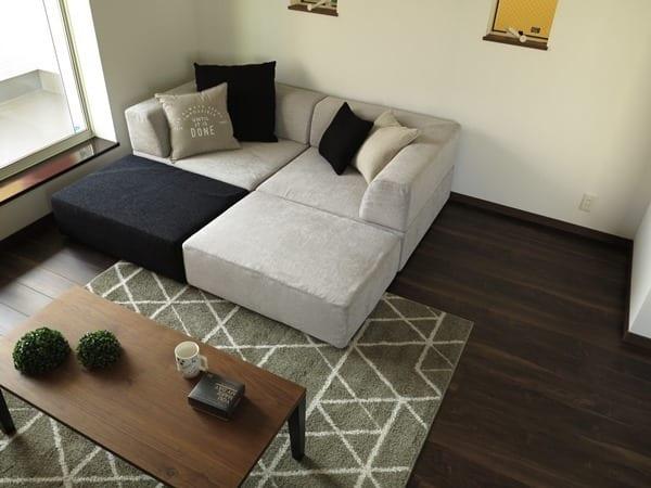 自由にレイアウトできるソファの配置例