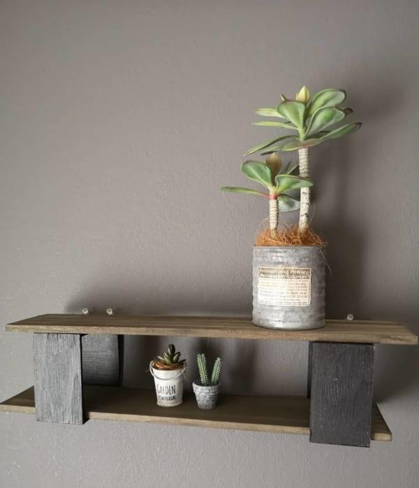 100均木材で作れる簡単なウォールシェルフ