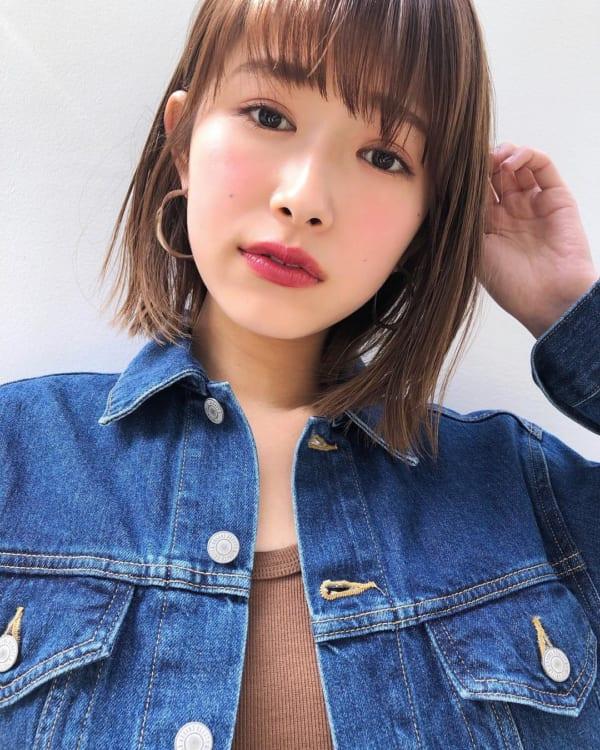 前髪ぱっつん×ボブヘア11