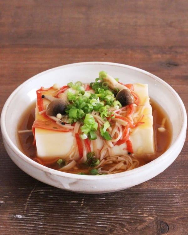 カニカマきのこあんかけ豆腐