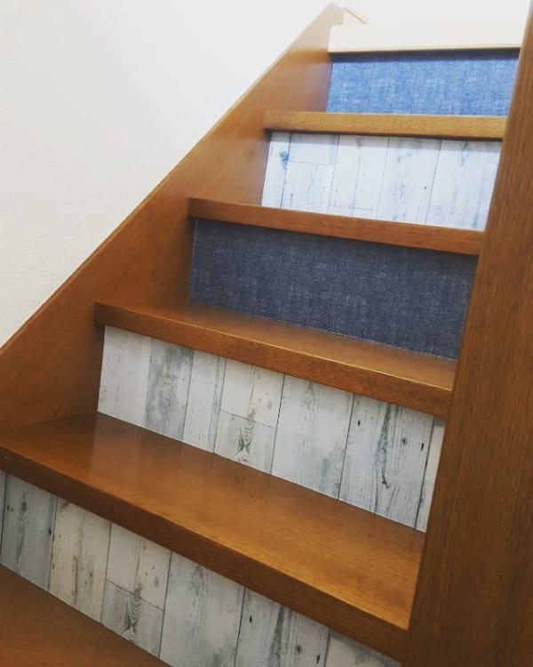 リメイクシートで作る他にはないおしゃれな階段