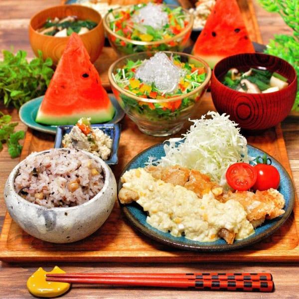 美味しい夕食に!味噌タルタルの竜田揚げ