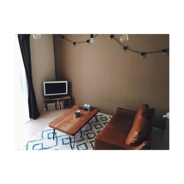 背の低い家具で作ったハイセンスなインテリア