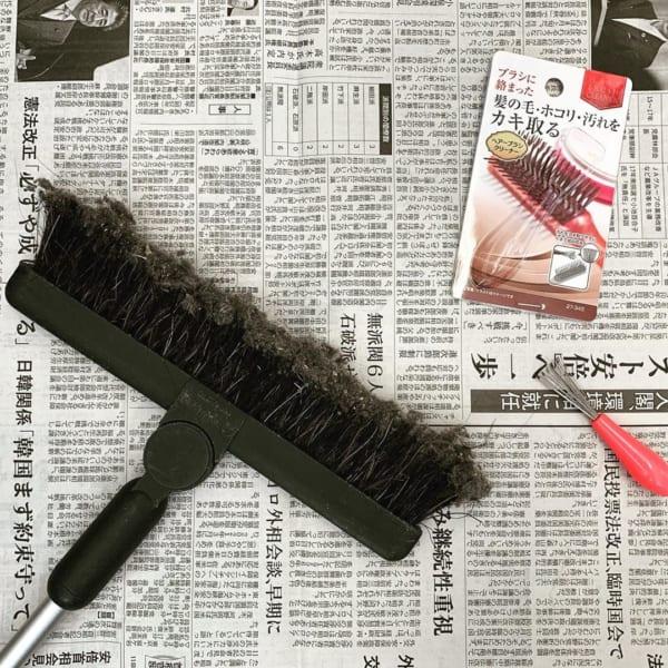 ブラシ掃除にヘアブラシクリーナー