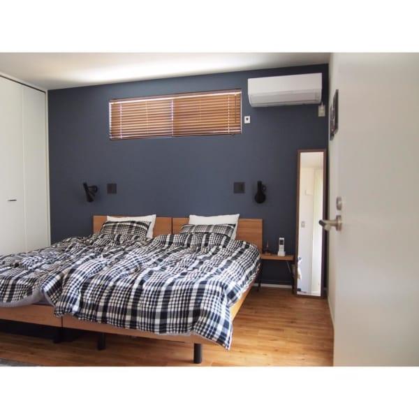 シンプリストの寝室インテリア