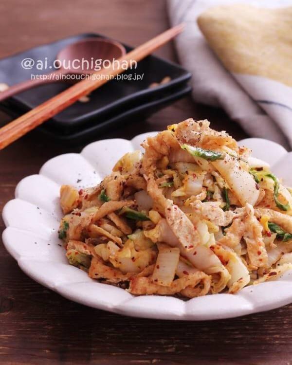 白菜のピリ辛炒め