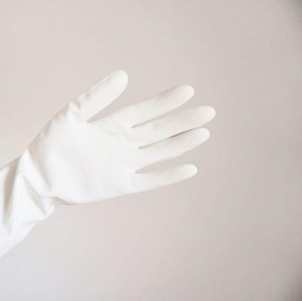 モノトーンの天然ゴム中厚手ゴム手袋