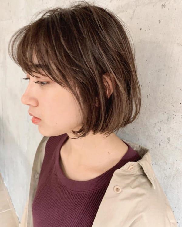 前髪ぱっつん×ボブヘア14