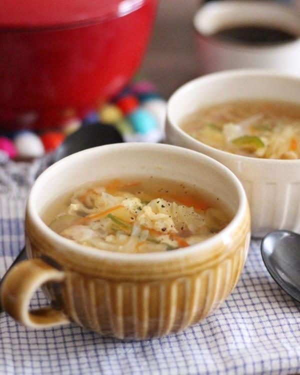 定番の味!ふんわり卵の野菜スープ